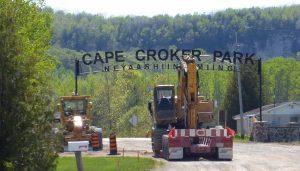 Cape Croker Park Road Work