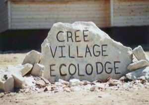 Cree Village Ecolodge Sign