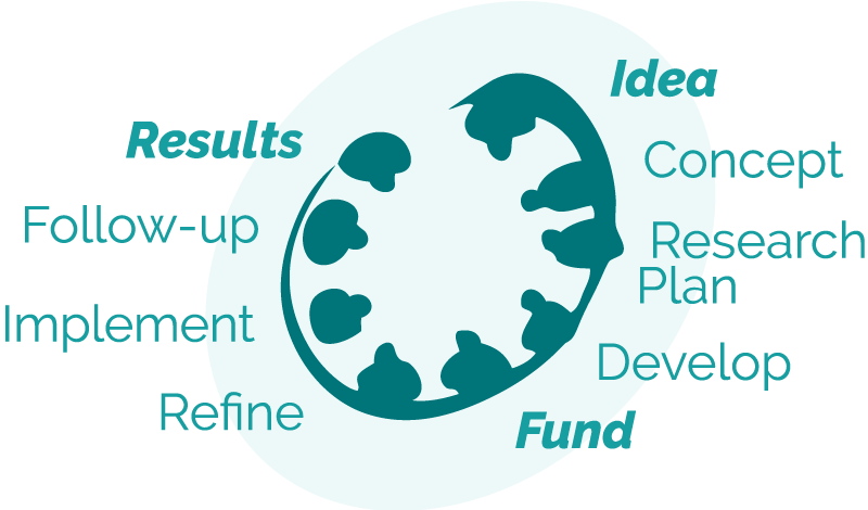 Process from Idea to Funding to Results