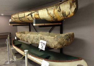 Canoes at Akwesasne Cultural Centre